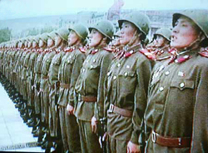 NK soldiers military inspection